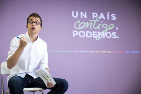 Íñigo Errejón, cuando era el número dos de Podemos.