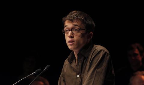 Íñigo Errejón, durante la presentación de Podemos a principios de 2014.