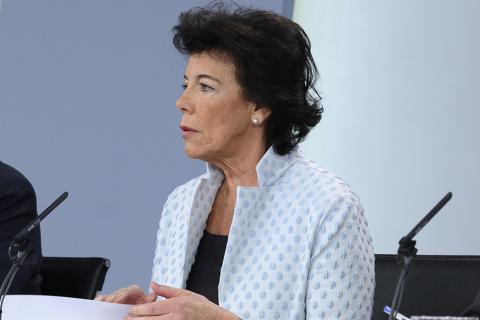 Isabel Celaá, ministra de Educación y FP.