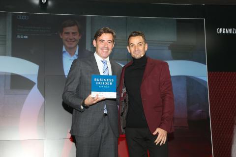 José Miguel Aparicio, CEO de Audi España  y Manuel del Campo, CEO de Axel Springer España