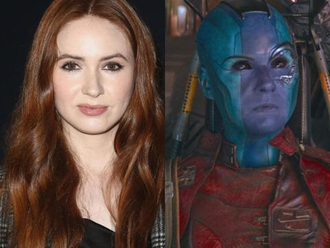 Karen Gillan interpreta a Nebula en el Universo Cinematográfico de Marvel.