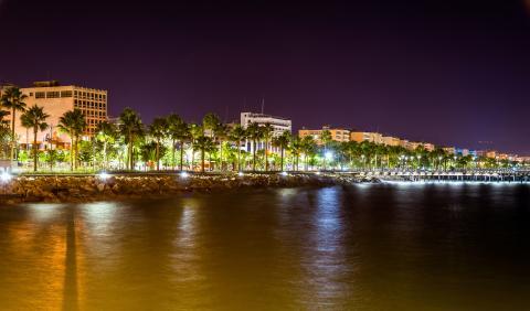 Limassol, Chipre, noche