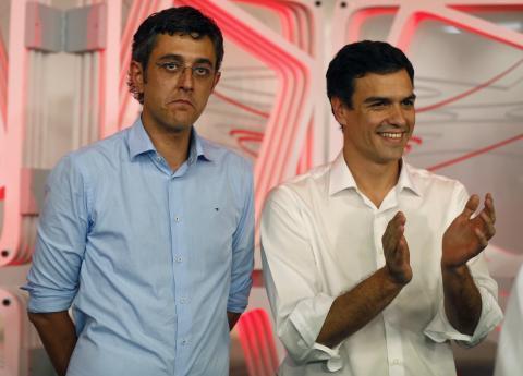 Madina y Sánchez tras las primarias del PSOE de 2014.