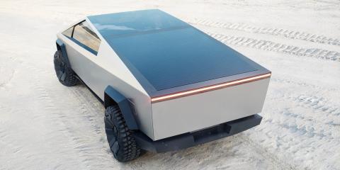 El maletero del Cybertruck de Tesla.