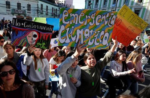 Manifestación cambio climático