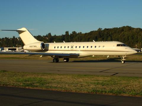 El jet privado de Bill Gates