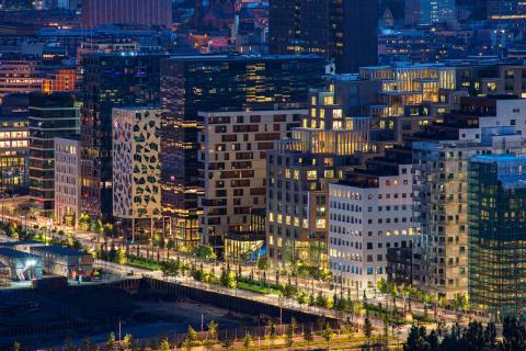 Moreno street, el centro de negocios de Oslo.