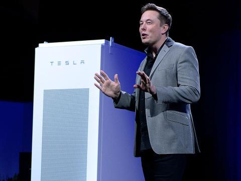 Musk, durante una presentación