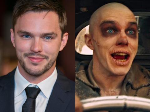 """Nicholas Hoult como Nux en """"Mad Max: Furia en la carretera""""."""