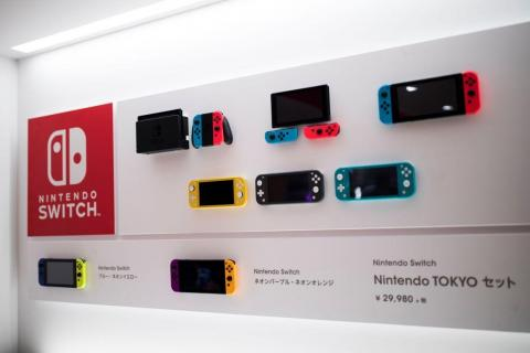 At Nintendo Tokyo, every version of the Switch — the company's newest console — is on display. Customers can also use demo stations to try new Switch games.