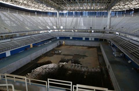 The Aquatics Stadium in Rio.