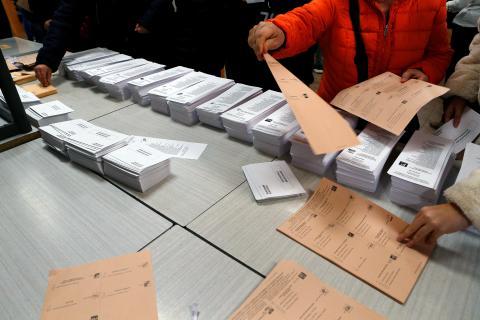 Papeletas de las elecciones generales de noviembre de 2019