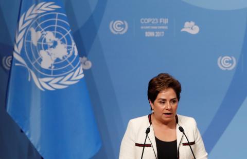 Patricia Espinosa en la COP 23 en Bonn.