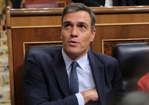 Pedro Sánchez, líder del Partido Socialista.