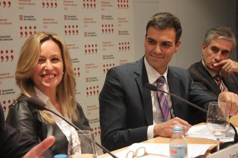 Pedro Sánchez en la presentación de su primer libro, en 2013.