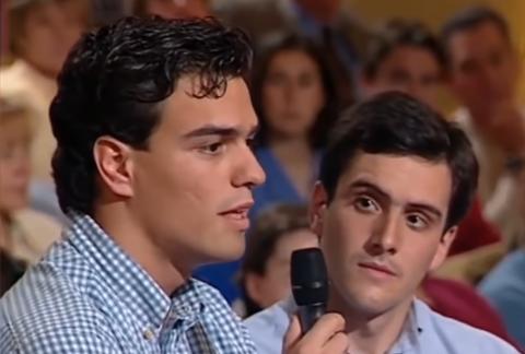 Pedro Sánchez, en el programa Moros y cristianos que emitió Telecinco.