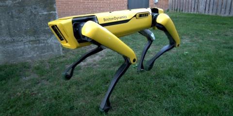 Boston Dynamics fabrica diferentes robots. Este modelo en concreto de llama Spot.