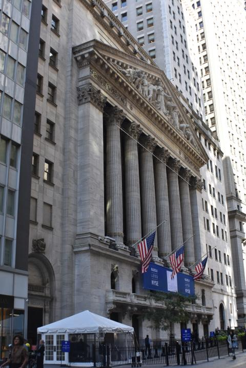 Perspectiva del NYSE (Wall Street)