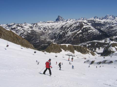 Pista de esquí de los Pirineos aragoneses.