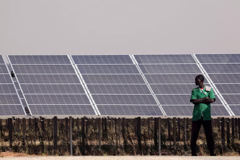 La planta solar de Zaktubi.