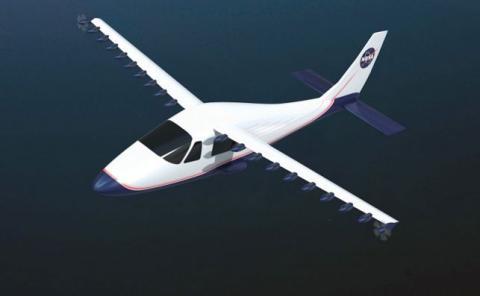 El avión eléctrico X-57 adapta la estructura de un pequeño bimotor italiano.