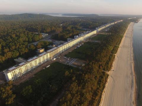 Prora is a three-mile-long abandoned Nazi resort.
