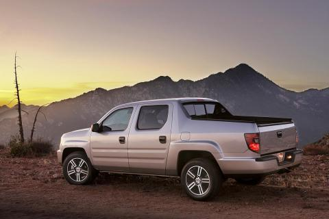 """In the realm of actual pickup trucks, the Cybertruck's high sides for its bed are reminiscent of the first-generation Honda Ridgeline. These are called """"sail pillars."""""""