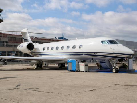 Un Gulfstream G650ER.