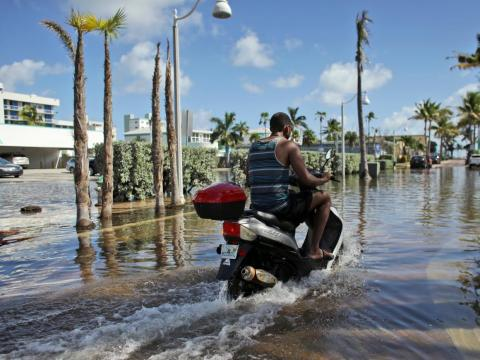 The risk of high-tide flooding (which happens in the absence of storms or severe weather) is rapidly increasing for communities on the US Gulf and East Coasts.