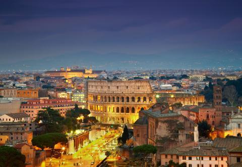 Roma Italia Noche