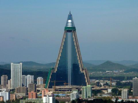 The Ryugyong Hotel is the tallest unoccupied building in the world.