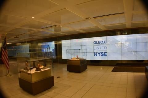 Sala de recepción para los invitados en Wall Street.