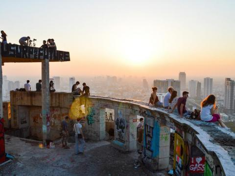 """The """"Ghost Tower"""" is a popular destination for urban explorers."""