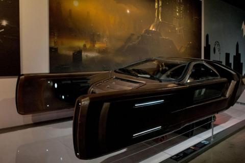 """A Spinner from the movie """"Blade Runner"""" — these flying car's from director Ridley Scott's 1982 sci-fi epic were cited by Musk as inspiration for the Cybertruck."""