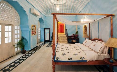 Suite Gudliya en el palacio de Jaipur.