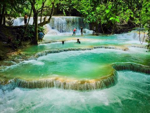 Kuang Si Falls, una de las muchas cascadas de Laos.