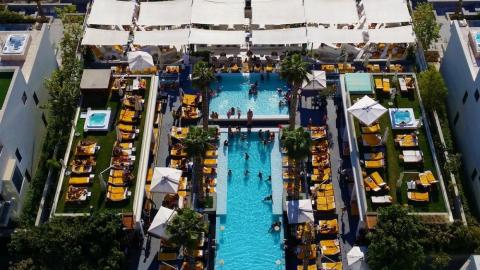 Pool parties at places such as the Five Palm Jumeirah are popular 365 days a year in Dubai.