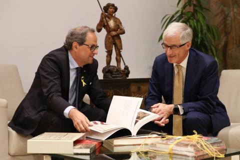 Torra se reúne con el presidente de Flandes, Geert Bourgeois.