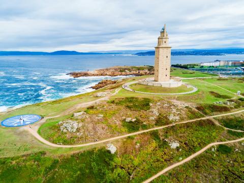 La Torre de Hércules, en A Coruña.