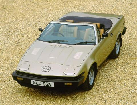 """The Triumph TR7 was built from 1974-1981 and was immortalized for its wedge profile by the the """"shape of things to come"""" advertising tagline"""