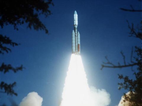 La nave espacial Voyager 2 se lanzó desde el Kennedy Space Center el 20 de agosto de 1977.