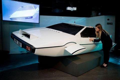 """So was the Lotus Esprit S1 from the 1977 James Bond flick """"The Spy Who Loved Me."""" That film car transformed into a submarine — and Musk actually owns the original."""