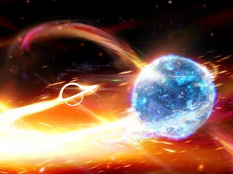 That wasn't the only black hole breakthrough this year: For the first time, scientists detected a black hole devouring a nearby neutron star.