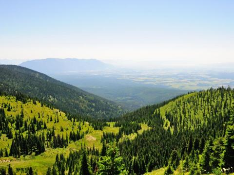 La zona ofrece impresionantes vistas a la montaña.