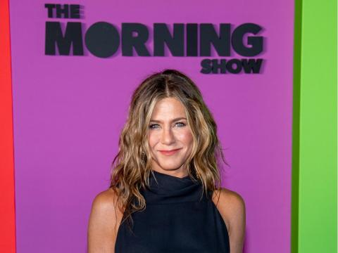 """This year, Aniston returned to television, starring in and producing """"The Morning Show,"""" an Apple TV+ original series that follows the lives of morning news broadcast journalists."""
