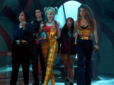 "Rosie Pérez, Mary Elizabeth Winstead, Margot Robbie, Ella Jay Basco y Jurnee Smollett-Bell protagonizan ""Birds of Prey""."