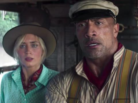 "Emily Blunt and Dwayne ""The Rock"" Johnson star in ""Jungle Cruise."""