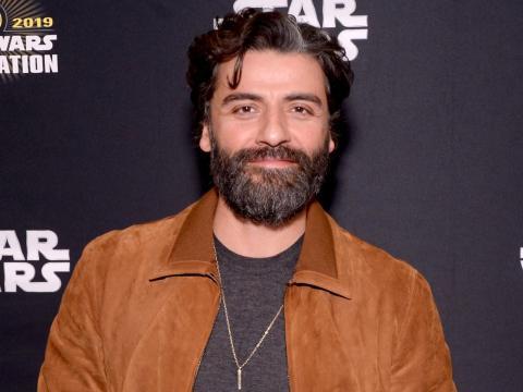 """Oscar Isaac en la celebración de """"Star Wars: El ascenso de Skywalker"""" el 12 de abril de 2019."""