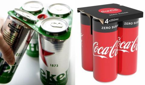Con 25 años de retraso, Coca Cola y otras empresas de bebidas dejan de usar anillas y plástico