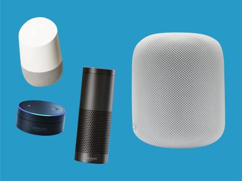 Algunos de los altavoces inteligentes en el mercado de Google, Amazon y Apple.